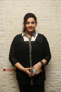 Tamil Actress Meena Latest Stills in Black Dress at TSR TV9 Awards Press Meet  0013.JPG