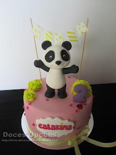 O Panda no Aniversário da Catarina