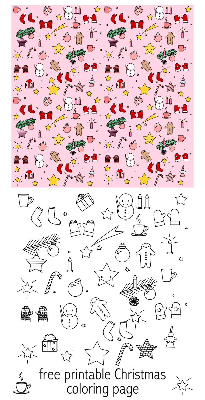 23 CHRISTMAS COLOURING PAPER