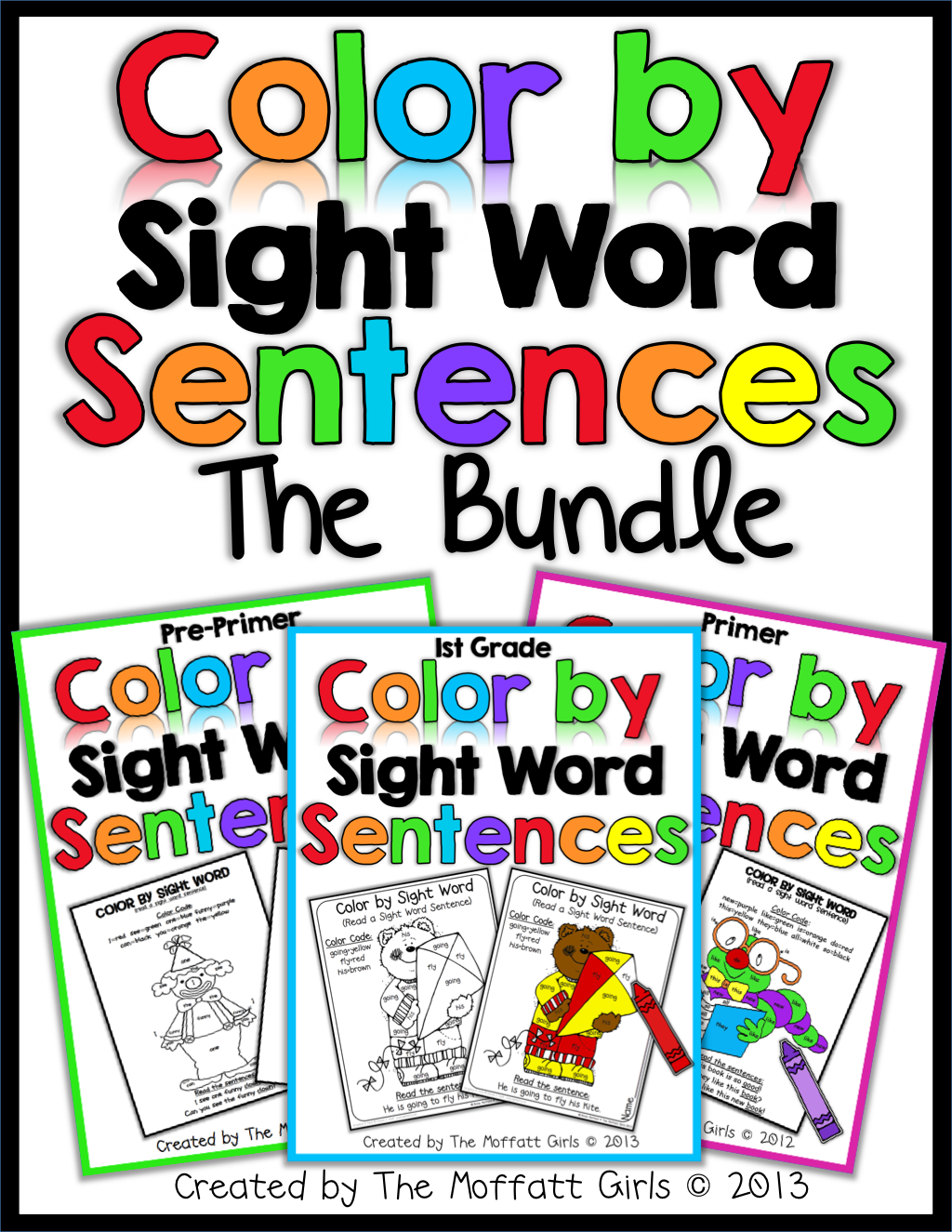 Color By Sight Word Sentences 1st Grade