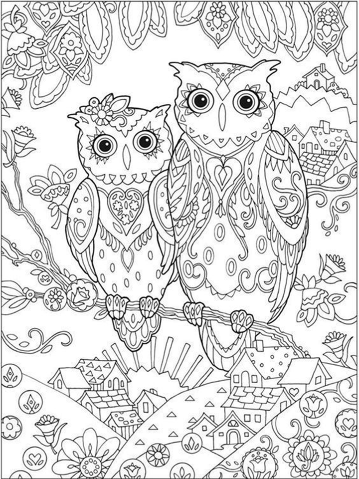 Owl Mandala Coloring Pages Coloring Pages