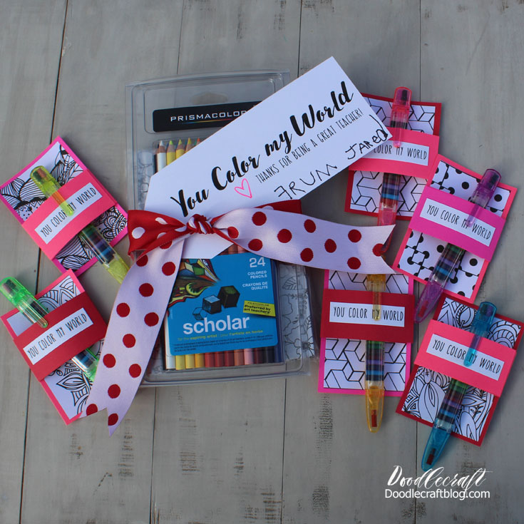 You Color My World DIY Non Candy Valentineu0027s!