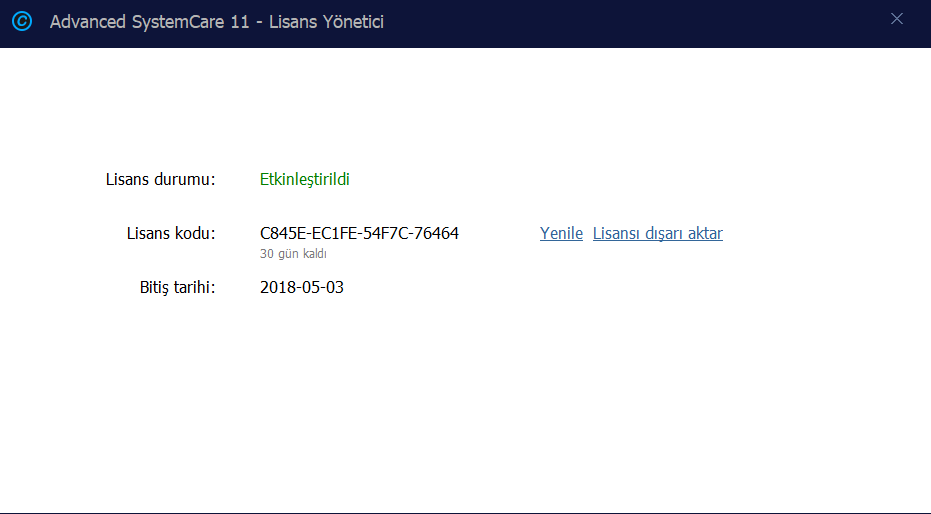 advanced systemcare 11.3 pro license key