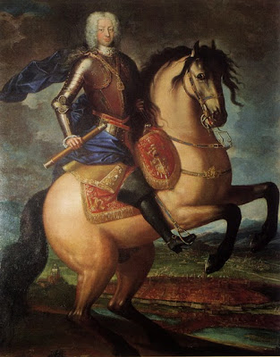 Equestrian portrait of Charles Emmanuel III of Sardinia by Maria Giovanna Clementi, 1740