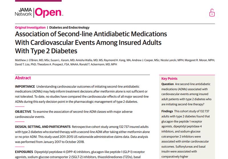 nuevo conjunto de pedidos de diabetes de inicio