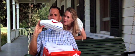 Nike Cortez in the movie Forrest Gump