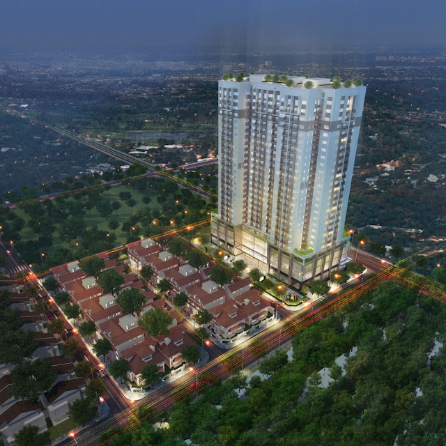 Phối cảnh đêm của chung cư Thanh Xuân Complex