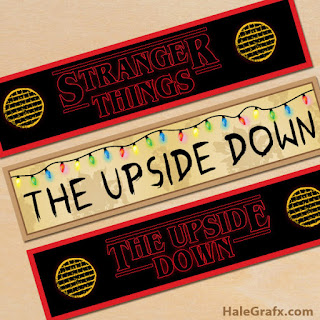 stranger things free party printables