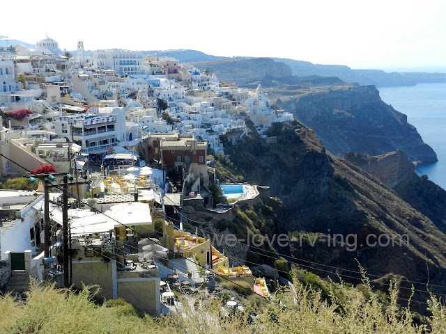 A view of Fira, a town on Santorini island