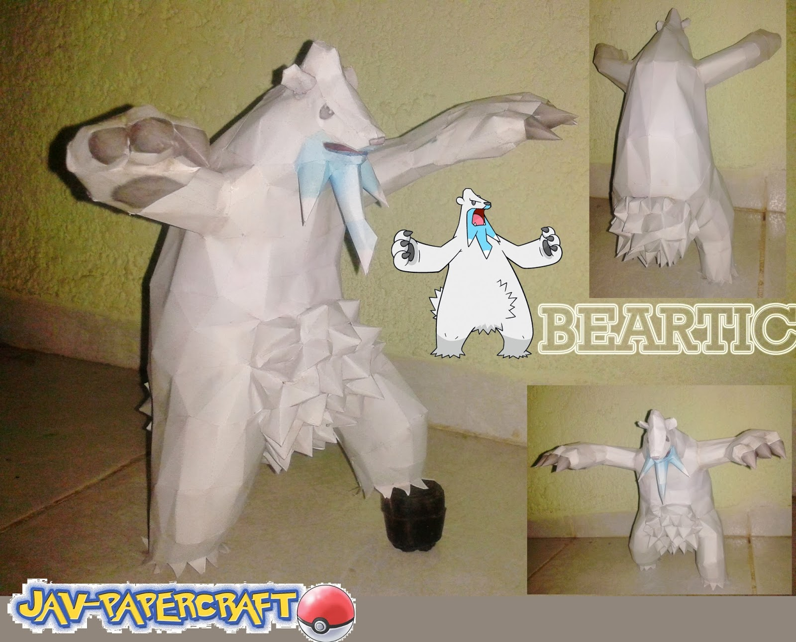 Pokemon Beartic Papercraft