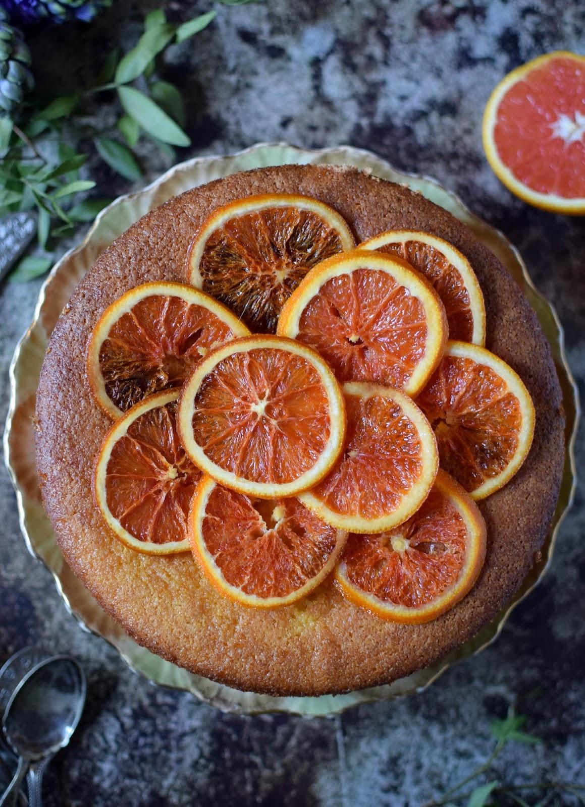 Blood Orange Almond Cake Recipe