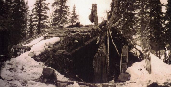 Mulher Dena'ina - Casa de Inverno-(1908)