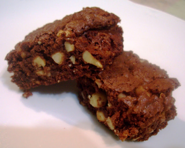 Brownies a la Gianduja. Receta