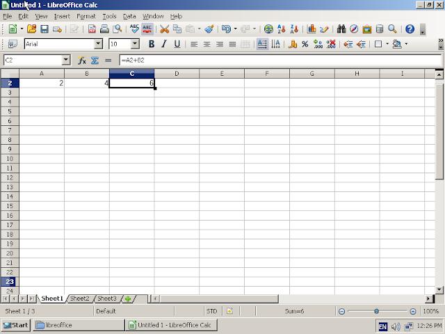 ReactOS 0.4.3 rodando LibreOffice