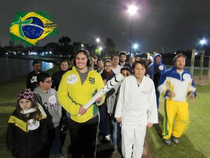 revezamento tocha olímpica rio 2016 ~ judocas esportistas de cristo Curitiba