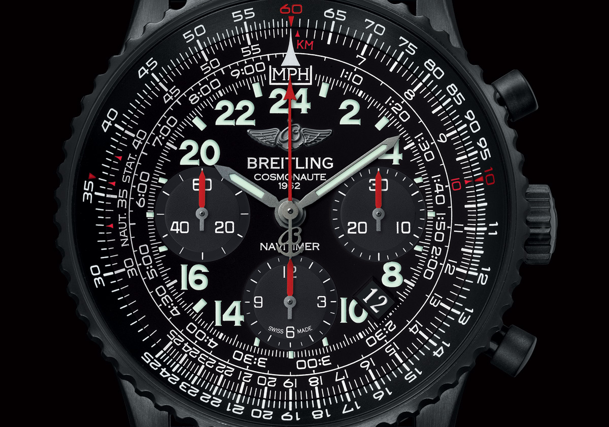 watches by sjx introducing the breitling navitimer cosmonaute blacksteel with specs and price. Black Bedroom Furniture Sets. Home Design Ideas