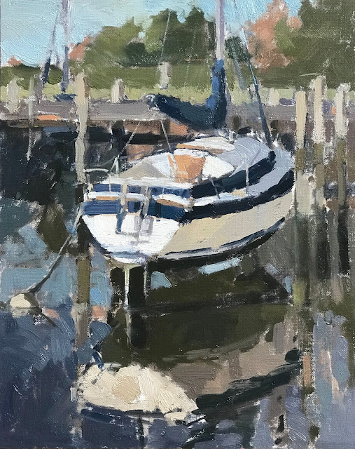 #407 'Emsworth Moorings' 10×12″