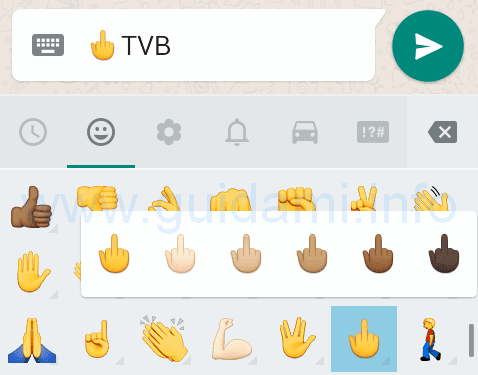 Emoticon dito medio WhatsApp