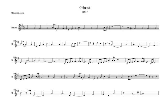 Banda Sonora - Ghost Más allá del amor (Unchained Melody) partitura