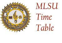 मलसू एग्जाम टाइम टेबल २०१८