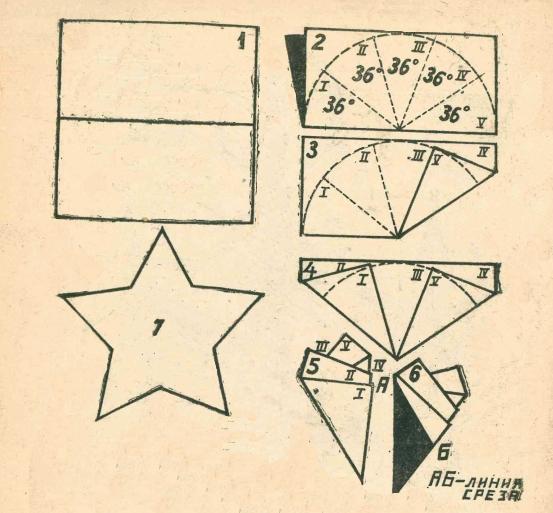 Схема пятиконечной звезды