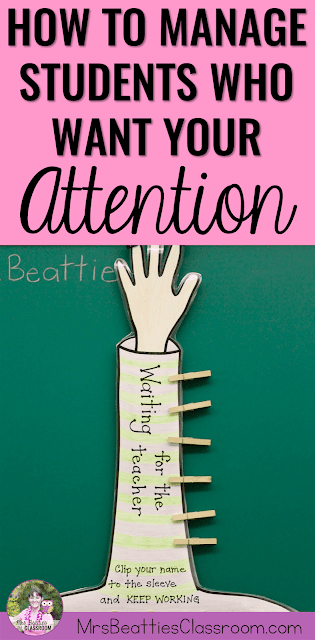 "Photo of attention management strategy with text, ""How to Manage Students Who Are Demanding Your Attention."""