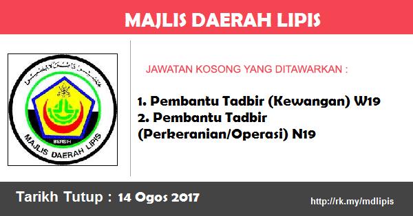 Jawatan Kosong di Majlis Daerah Lipis