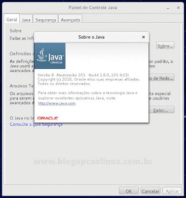 Painel de Controle Java