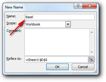 Merubah nama sel di Ms Excel