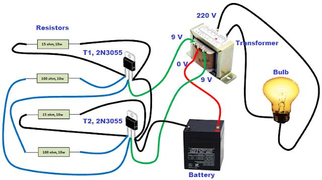 Rangkaian Sederhana Inverter Dc Ke Ac Anti Njlimet Cara Tekno