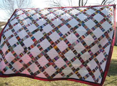 Scrappy String-X quilt