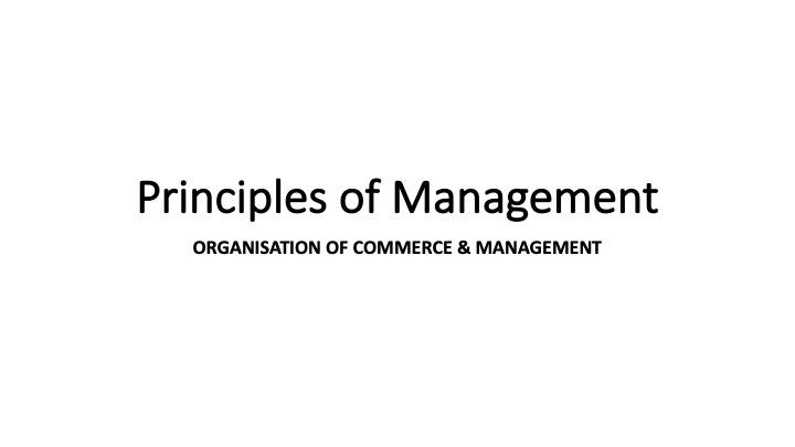 OMTEX CLASSES: Principles of Management, HSC Commerce