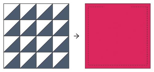 Half-Square Triangle Pincushion Tutorial - In Color Order