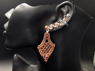 Shiny Copper and Silver Glamorous Ear Cuffs