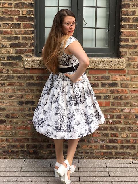 bernie dexter toile dress