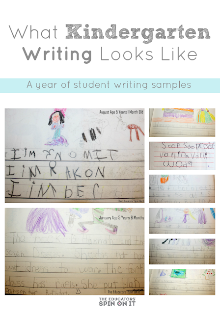 What Kindergarten Writing Looks Like A Year Of Student Samples The Educators 39 Spin On It