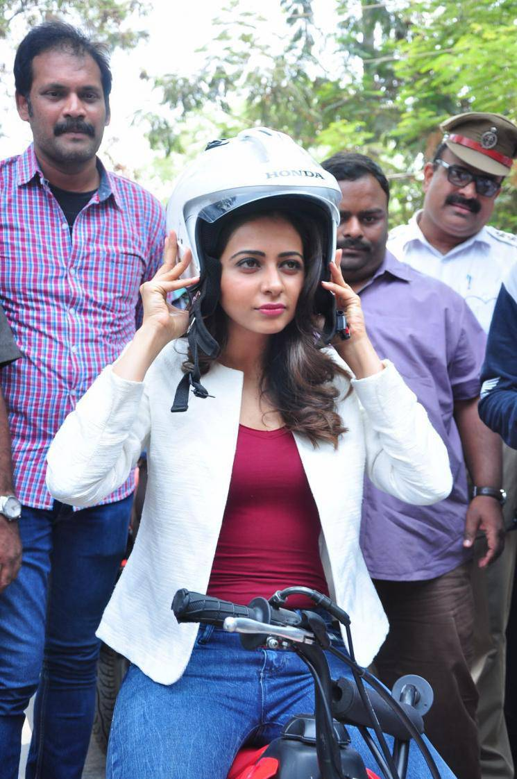 Rakul Preet Singh Bike Ride Photos