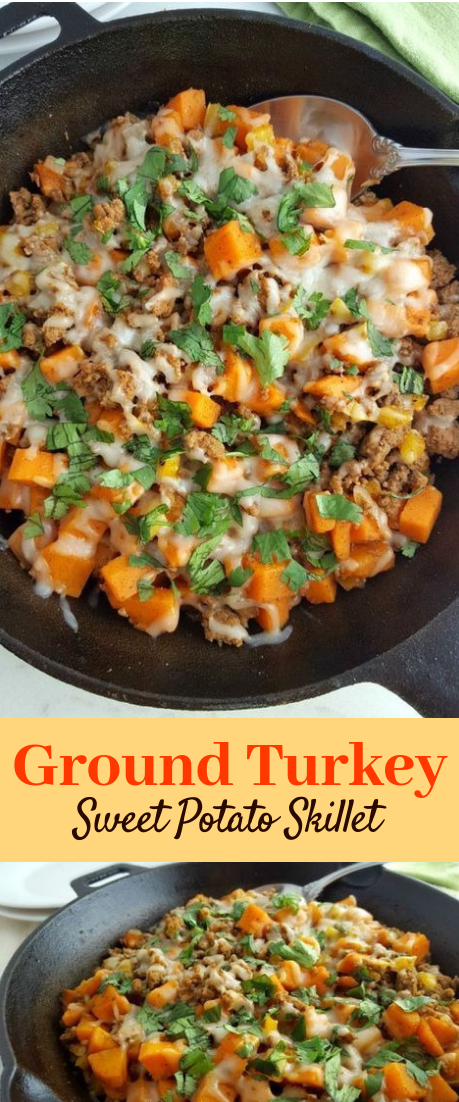 Ground Turkey Sweet Potato Skillet #vegan #recipe