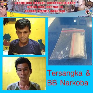 Edarkan Narkoba, 2 Warga Sekayu Diringkus Kepolisian