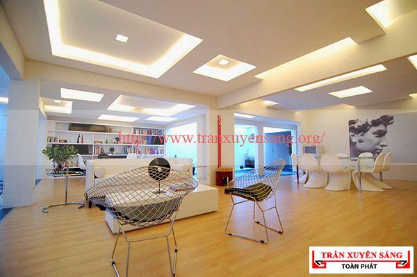 Mẫu trần phòng khách màu trắng số 5