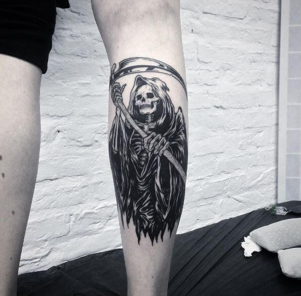 2943353bf 50+ Traditional Grim Reaper Tattoos Designs (2019) | Tattoo Ideas