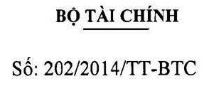 Thông tư 202/2014/TT-BTC