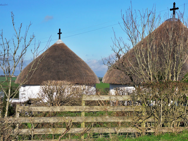 Round houses at Veryan, Cornwall