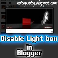 disable lightbox in blogger