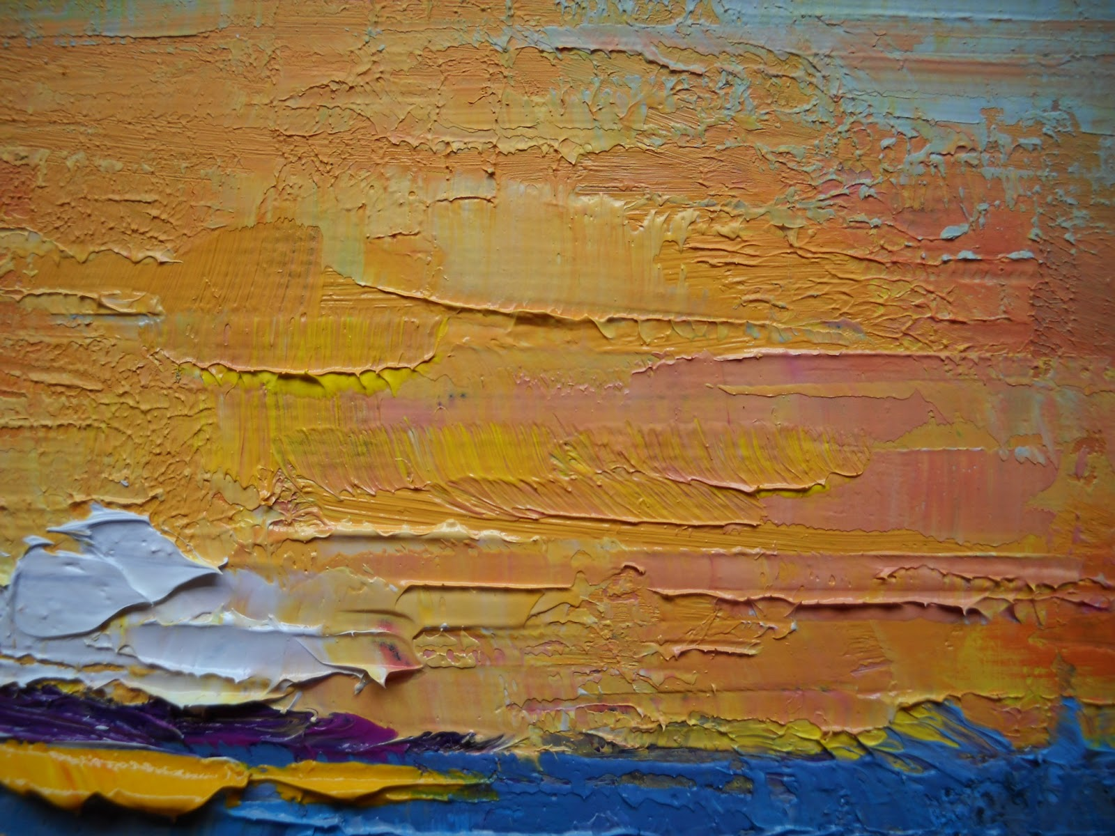 palette knife painters international abstract landscape small oil