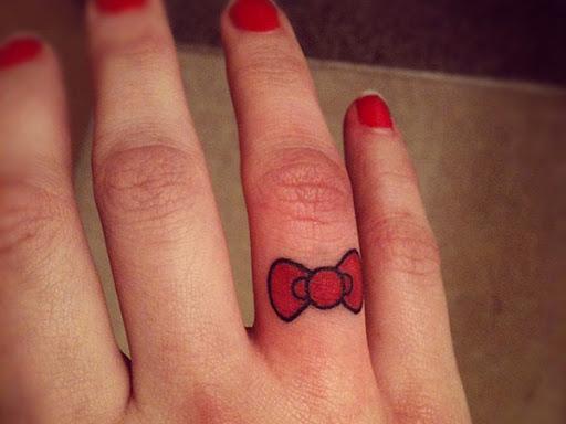 Vermelho dedo Arco