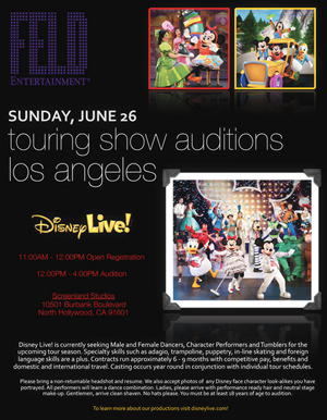 Disney Live Open Auditions