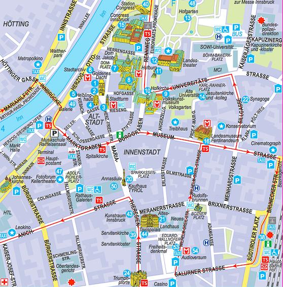 Plano Altstadt de Innsbruck