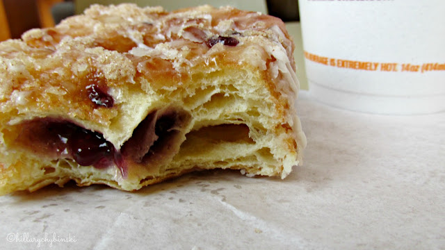 Inside Look at Dunkin' Donuts Blueberry Cobbler Croissant Donut