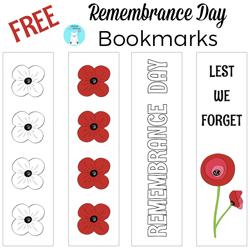 Free Poppy Bookmarks